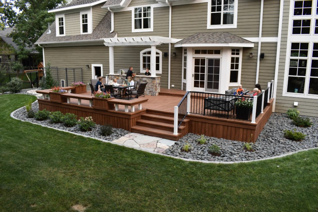 Premier Fargo Nd Deck Pergola Built In Grill Design Company