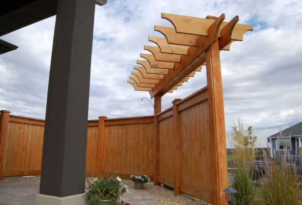 Fence With Canopy