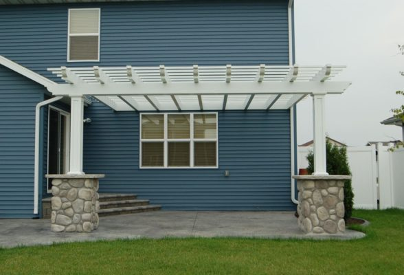 Pergola Next To House