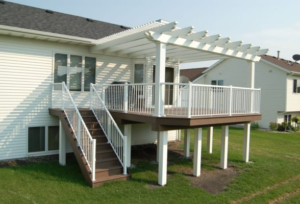 Upper Level Deck With Pergola