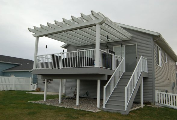 Deck With Pergola Attached