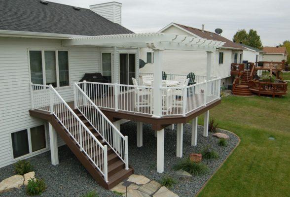 Large Deck With Pergola